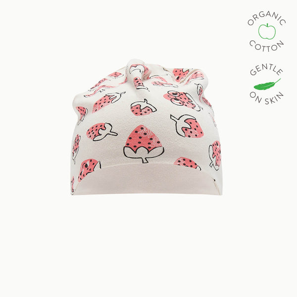 SHADOW - Baby Baby Beanie Hat, Reversible - STRAWBERRY