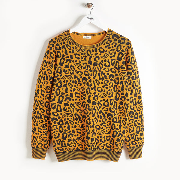 SOLO - Leopard Spot Sweater - Kids Unisex - Honey