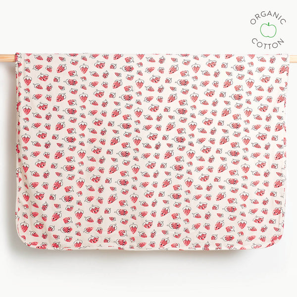 SPECS - Baby Blanket with Hood - STRAWBERRY