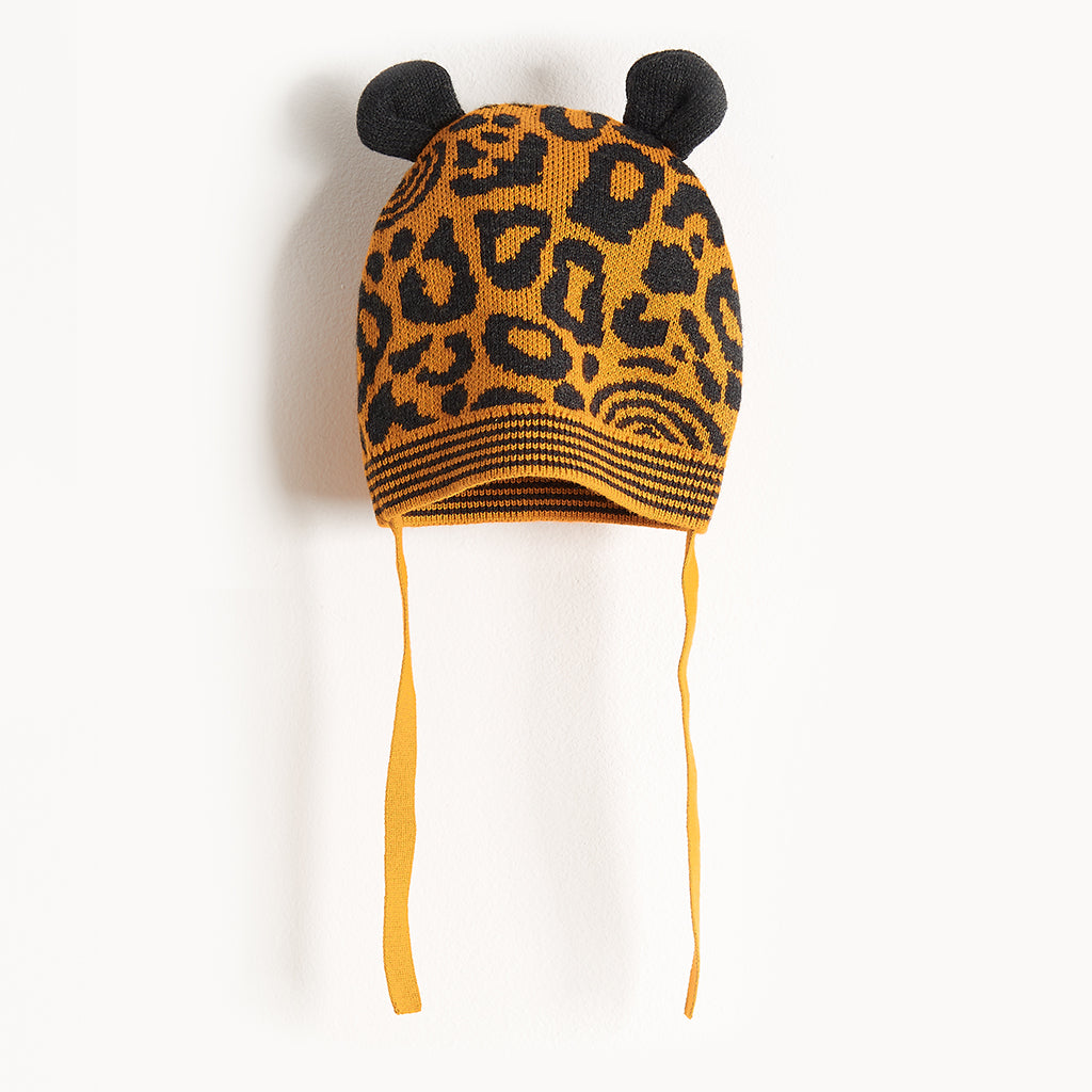SPOTTY - Leopard Spot Hat With Ears - Kids Unisex - Honey