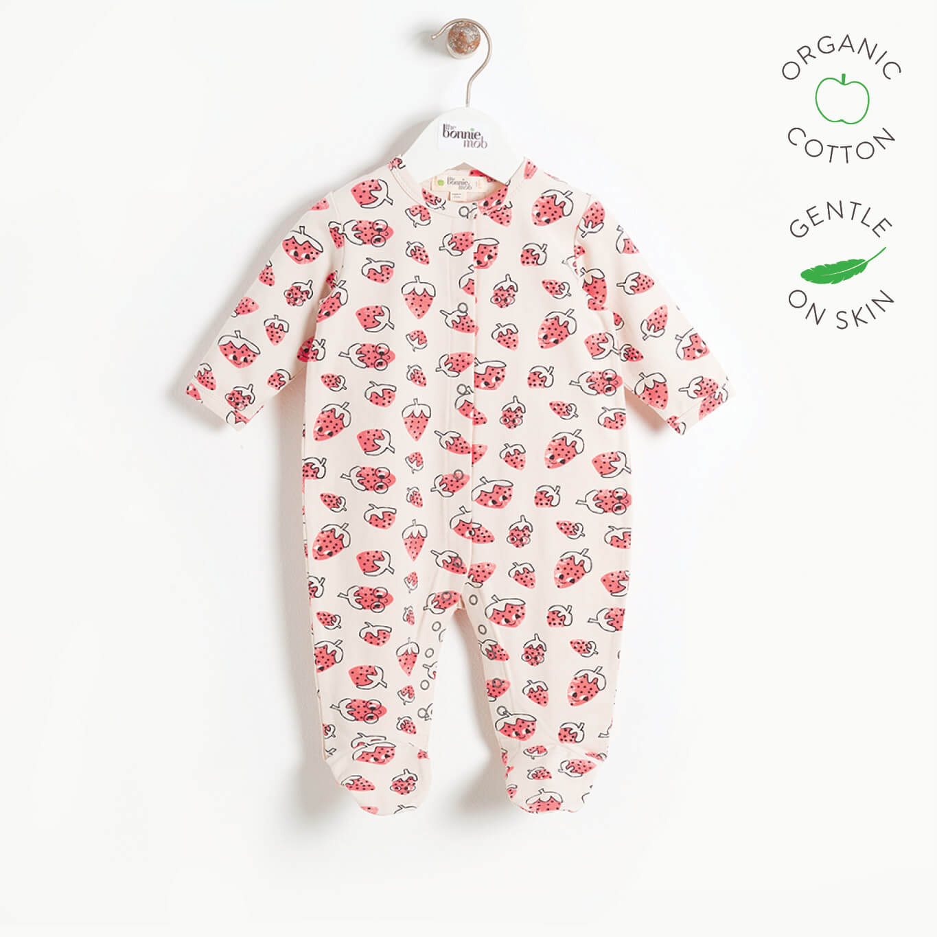 STARR - Baby Sleepsuit - STRAWBERRY