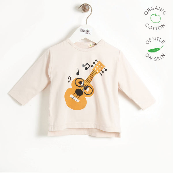 STUDIO - Kids Long Sleeve T-shirt  - PLACED GUITAR