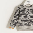 TEDDY - Unisex Kids Knitted Tiger Stripe Sweater - Grey