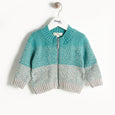 WONDER - Chunky Knit Cardigan - Kids Boy - Teal