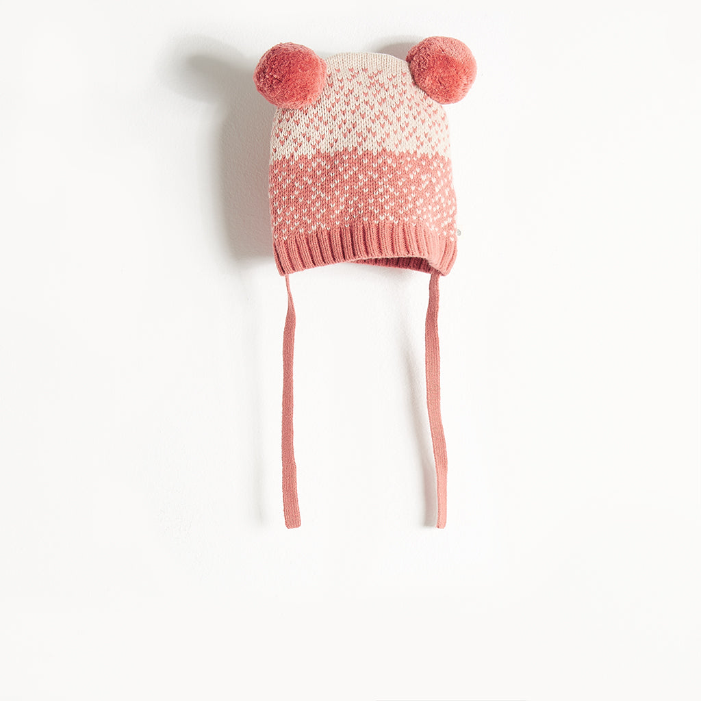 WOOLEY - Chunky Knit Hat - Baby Girl - Pink