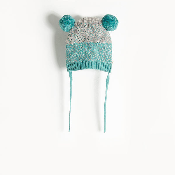 WOOLEY - Chunky Knit Hat - Baby Boy - Teal