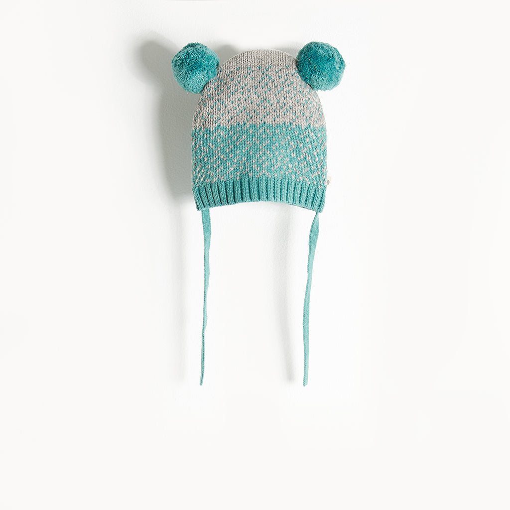 WOOLEY - Chunky Knit Hat - Kids Boy - Teal
