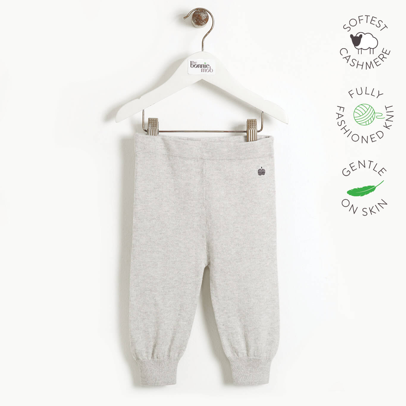 YESTERDAY - Baby Knitted Jogging Trouser - PALE GREY