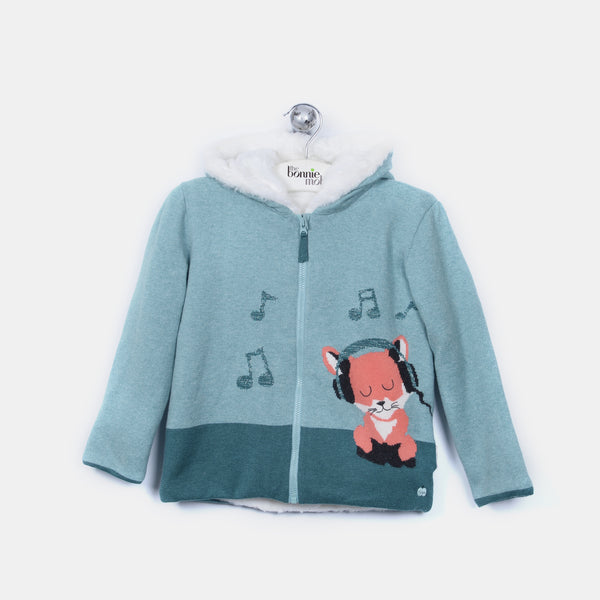 L-FERN - Funky Fox Jacket - Baby Boy - Cloudy jade
