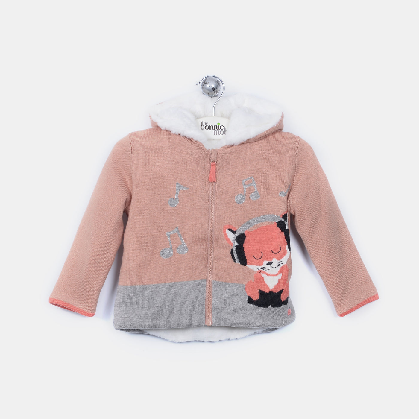 L-FERN - Funky Fox Jacket - Baby Girl - Dune pink