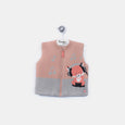 L-FINLAY - Funky Fox Gilet - Kids Boy - Cloudy jade