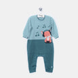 L-FREDDY - Funky Fox Playsuit - Baby Boy - Cloudy jade