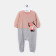 L-FREDDY - Funky Fox Playsuit - Baby Girl - Dune pink