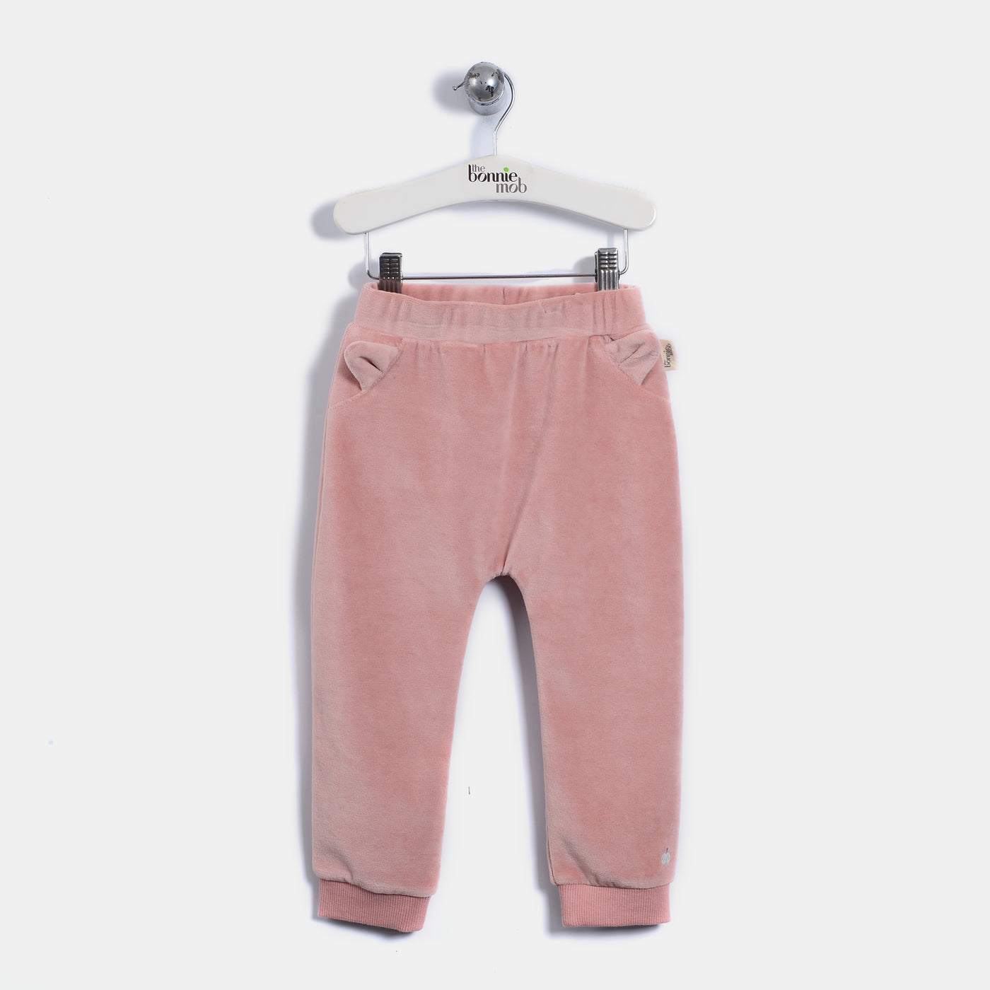 L-LEON - Leopard Ear Trousers - Baby Girl - Dusty pink