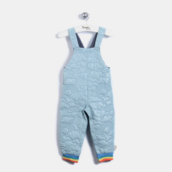 L-BEVERLY - Quilted Nylon Lined Dungaree - Baby Unisex - Vintage blue