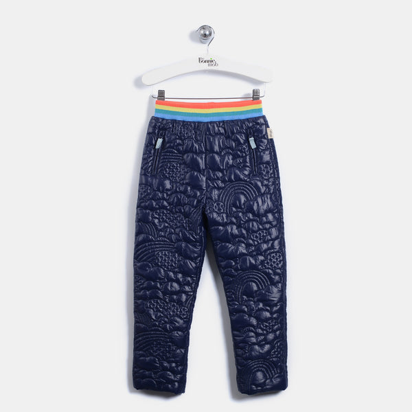L-BILBO - Quilted Nylon Trousers - Baby Unisex - Navy