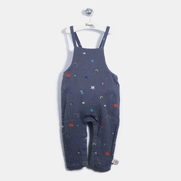 L-BELLE - Rainbow And Star Print Dungaree - Baby Unisex - Rainbow and star print