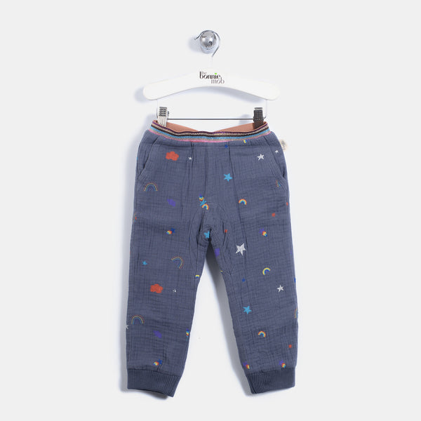 L-BRENDA - Rainbow And Star Print Trousers - Baby Unisex - Rainbow and star print