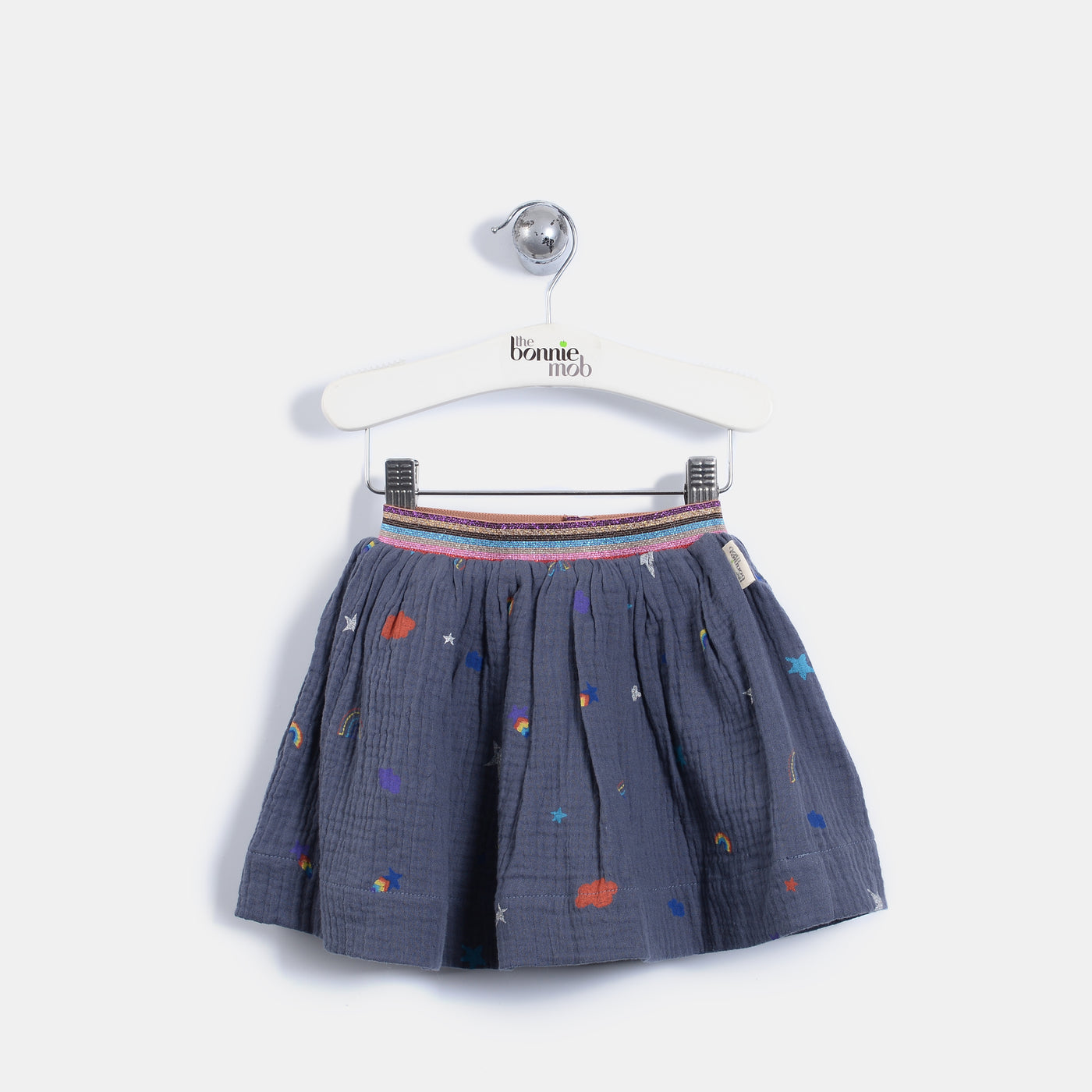 L-BRIELLE - Rainbow And Star Print Skirt - Baby Girl - Rainbow and star print