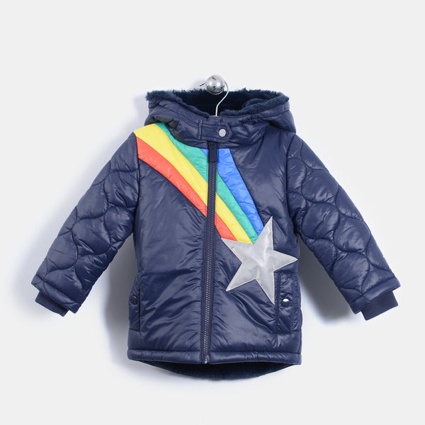 L-ARCHIE - Shooting Star Padded Coat - Baby Unisex - Navy