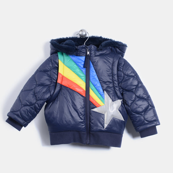 L-AVERY - Shooting Star Padded Jacket - Kids Unisex - Navy