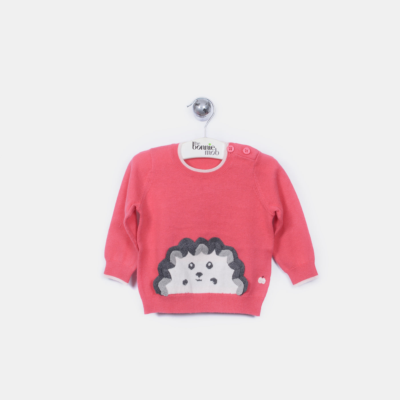 L-HARRY - Spikey Hedghog Jumper - Kids Girl - Alpine rose