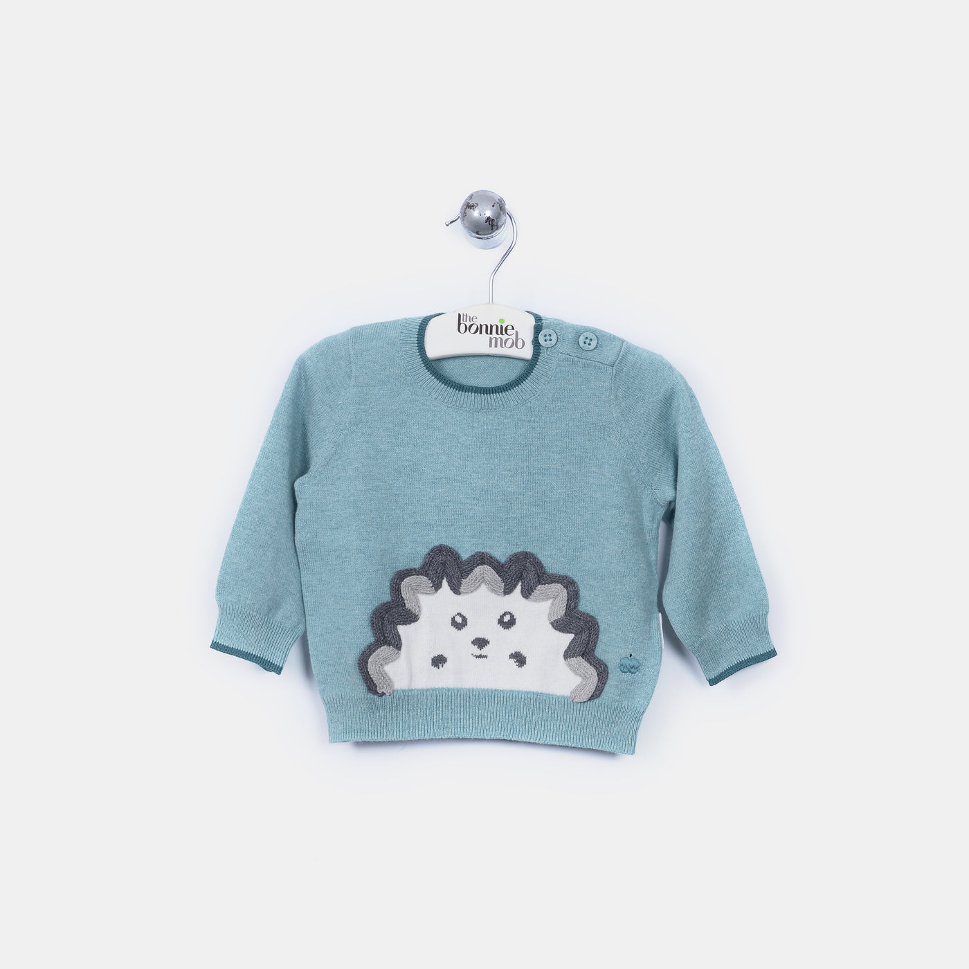 L-HARRY - Spikey Hedghog Jumper - Kids Boy - Cloudy jade
