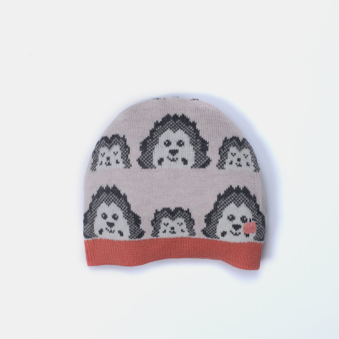 L-HAZEL - Mini Spikey Hedghog Hat - Baby Girl - Pink calico
