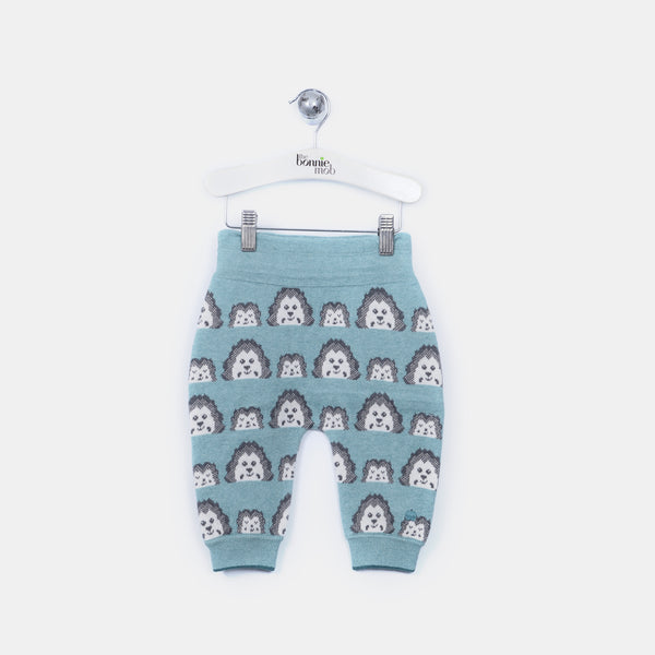 L-HENRY - Mini Spikey Hedghog Trousers - Baby Boy - Cloudy jade