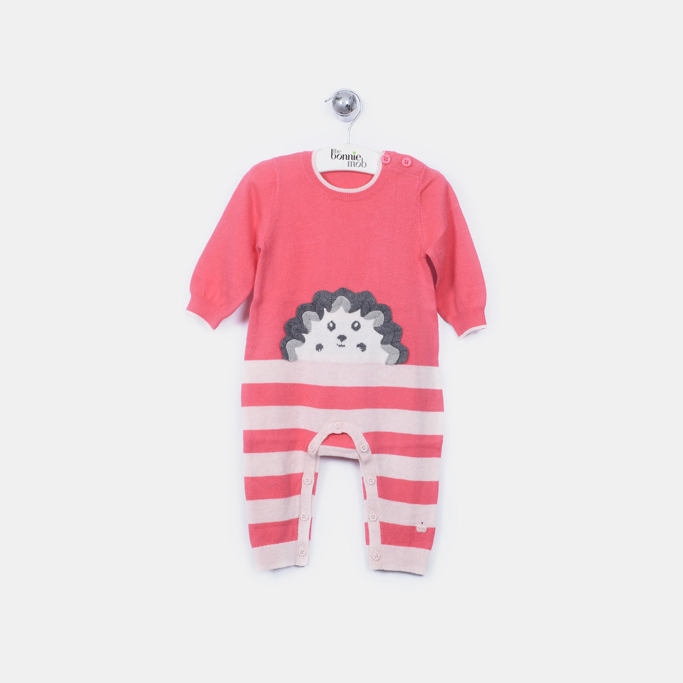 L-HOWARD - Spikey Hedghog Playsuit - Baby Girl - Alpine rose