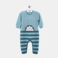 L-HOWARD - Spikey Hedghog Playsuit - Baby Boy - Cloudy jade