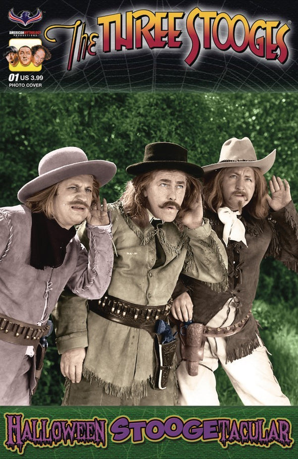 The Three Stooges Comic Book Series 7 / Cowboys Photo Cover 3: Halloween Stoogetacular 2017