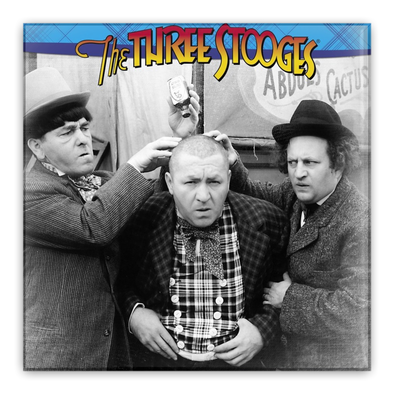 Three Stooges Pin-Back Button