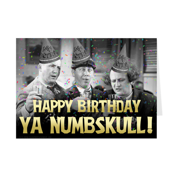 Three Stooges Birthday Cards - 5 Pack