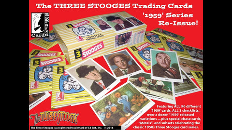 Three Stooges Trading Cards - 1959 REISSUE Set - READY TO SHIP