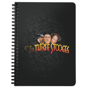 THREE STOOGES SPIRAL NOTEBOOK - COLOR LOGO - Free Shipping