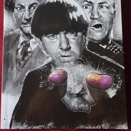 The Three Stooges Volume 1 Trade Paperback Graphic Novel / AUTOGRAPHED BY ARTIST