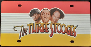Three Stooges Shiny Logo License Plate
