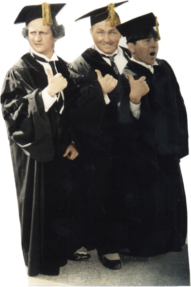 The Three Stooges Stand-Up Graduates - Free Shipping
