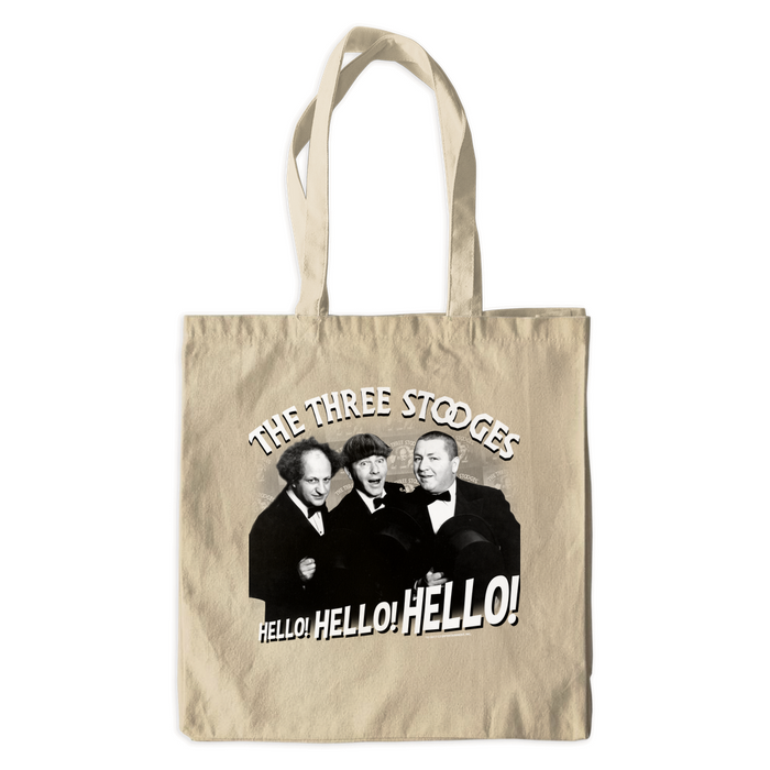 Three Stooges Hello Canvas Tote Bags