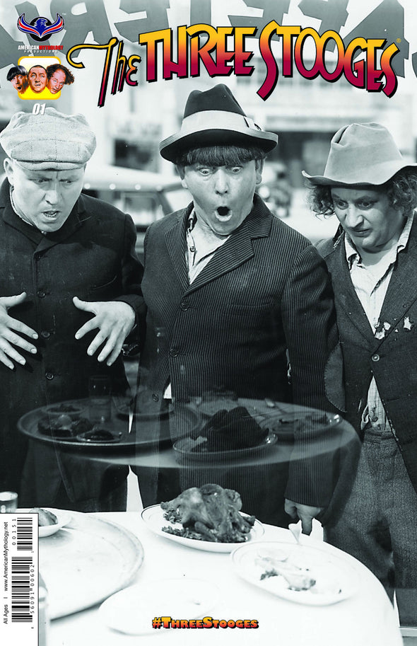 The Three Stooges Comic Books Series 1 / Rare Cover - Rare B&W - READY TO SHIP