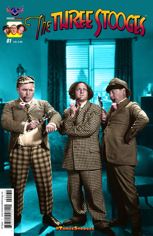 The Three Stooges Comic Books Series 1 / Cover 2 - Houndstooth - READY TO SHIP