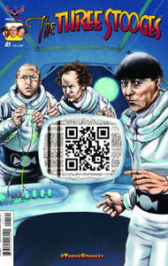 The Three Stooges Comic Books Series 1 / Cover 1 - QR - READY TO SHIP