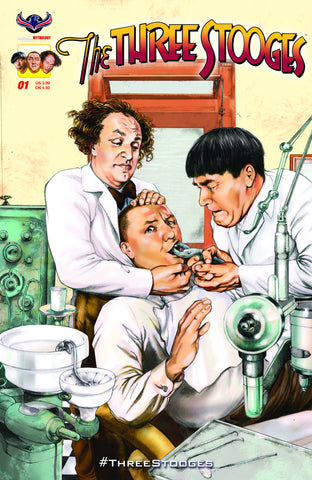 The Three Stooges Comic Books Series 2 / Cover 2 - Dentist - READY TO SHIP