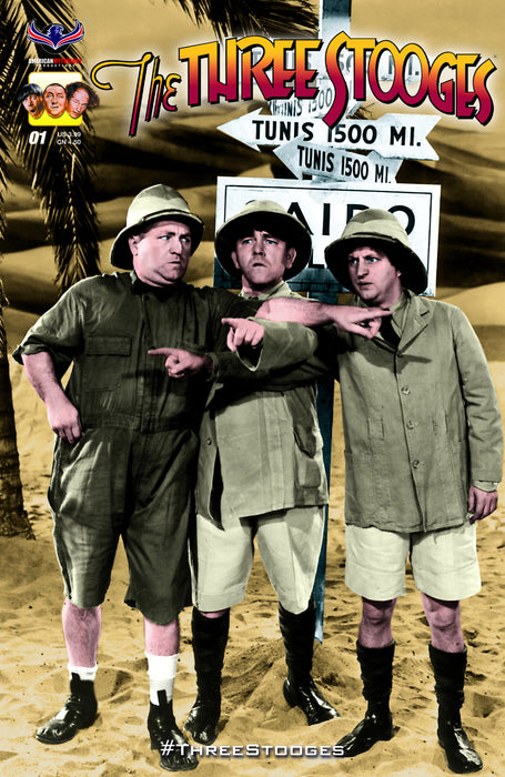Three Stooges Comic Books Series 2 / Cover 1 - Pointing