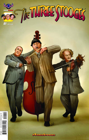 The Three Stooges Comic Books Series 1 / Cover 3 - Disorder - READY TO SHIP