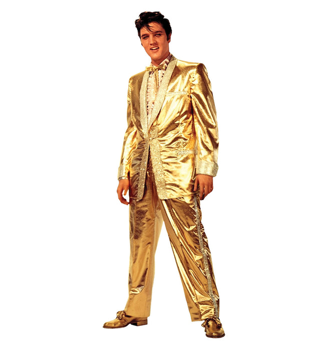 Elvis Presley Gold Suit Stand-Up - Free Shipping