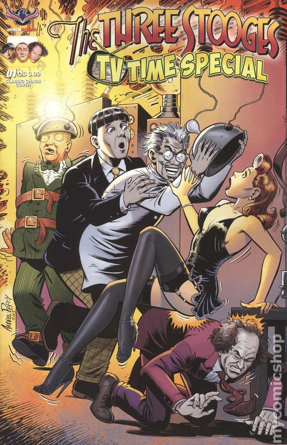 The Three Stooges Comic Book Series 8 / CHAOS Cover 1: TV TIME SPECIAL