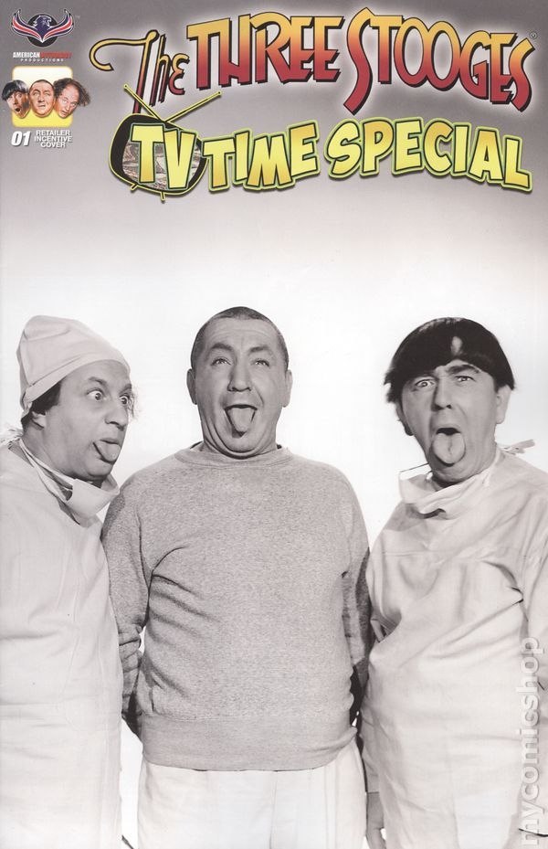 The Three Stooges Comic Book Series 8 /RETAIL B/W Cover 4: TV TIME SPECIAL