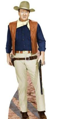 John Wayne-Rifle at Side  Stand-Up - Free Shipping